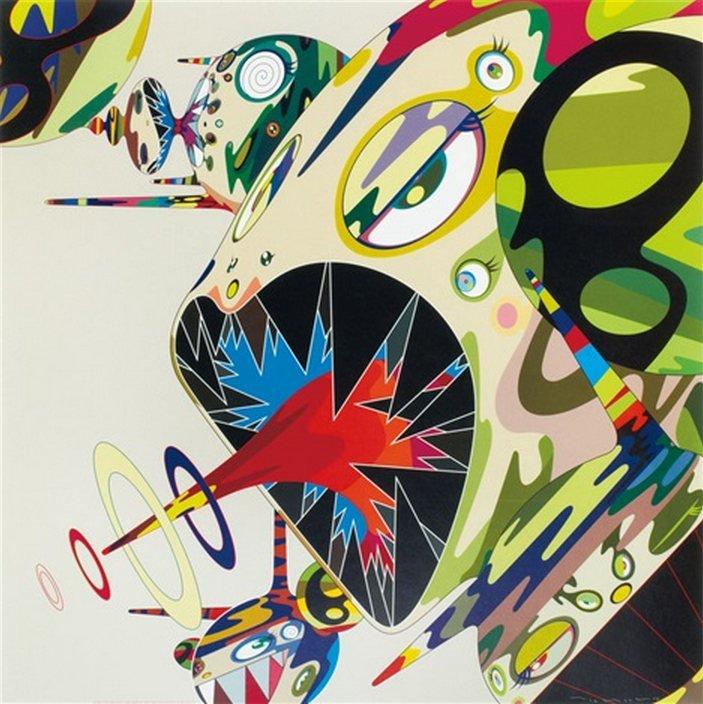 Takashi Murakami-Homage to Francis Bacon (Study of Isabella Rawsthorne)-2001