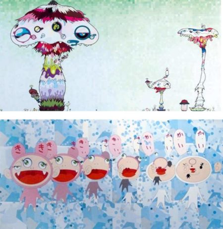 Takashi Murakami-Hypha Will Cover The World, Little By Little..., Nirvana-2007