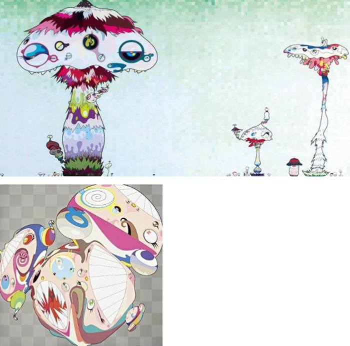 Takashi Murakami-Hypha Will Cover the World, Little by Little..., Melting DOB E-2009