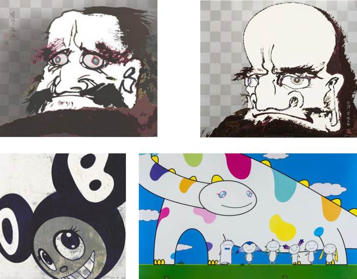 Takashi Murakami-I open wide my eyes but see no scenery I fix my gazeupon my heart, My arms and legs rot off and though my blood rushesforth, the tranquility of my heart shall be prized above all, Yoshiko and the Creaturesfrom Planet 66, And then...-2007