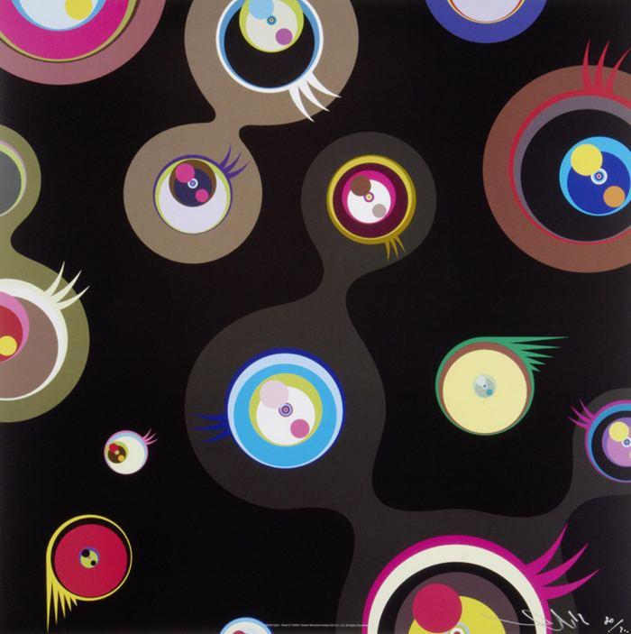 Takashi Murakami-Jelly Fish Eyes-Black 2-2004