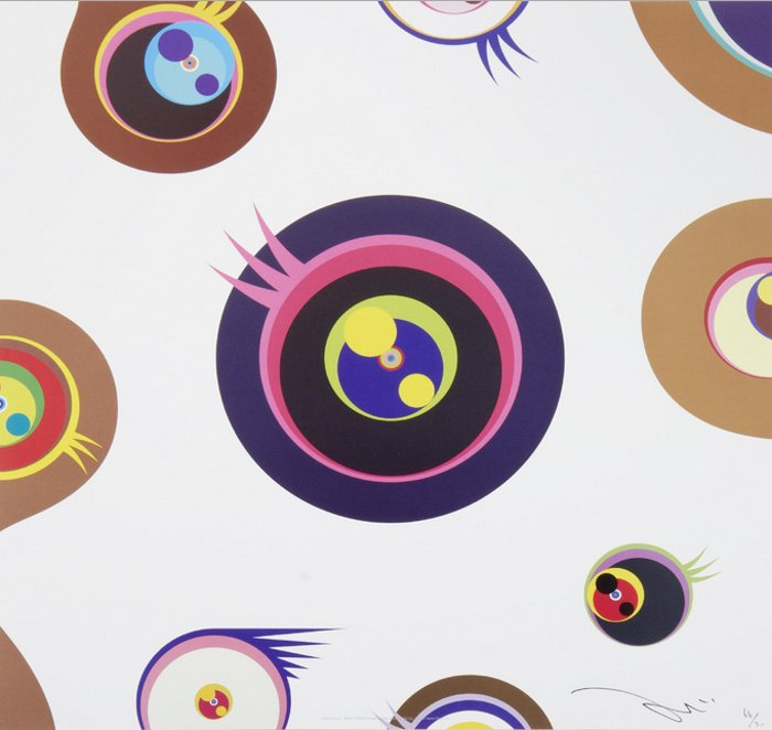 Takashi Murakami-Jellyfish Eyes - White 1-2011