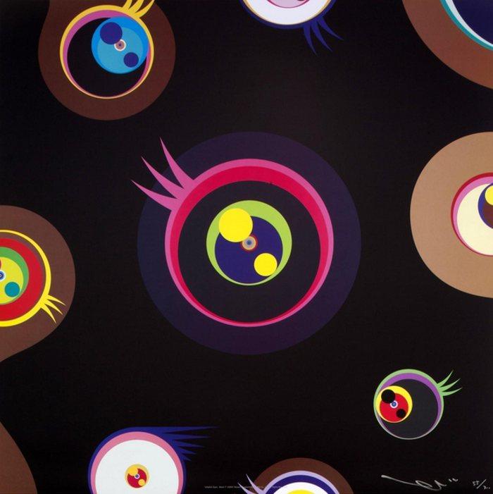 Takashi Murakami-Jellyfish Eyes - Black 1-2002