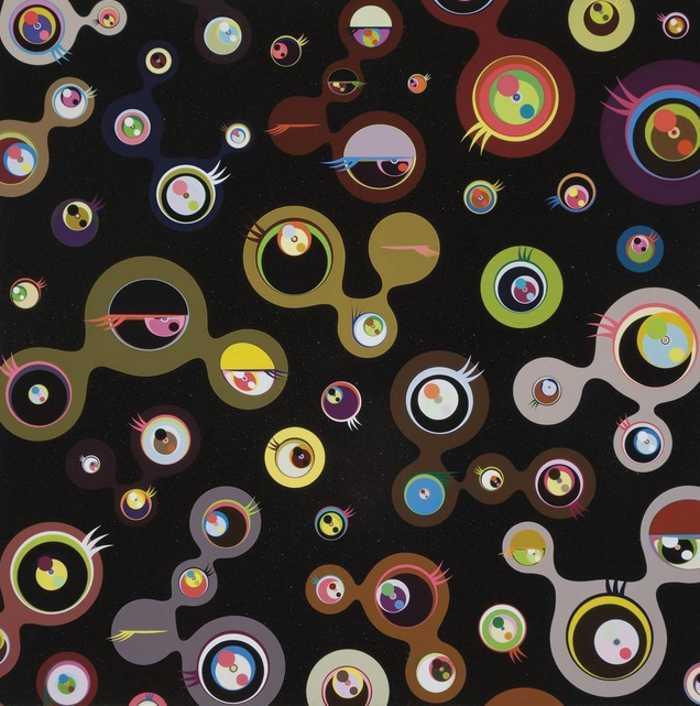 Takashi Murakami-Jellyfish Eyes-Black 4-2004