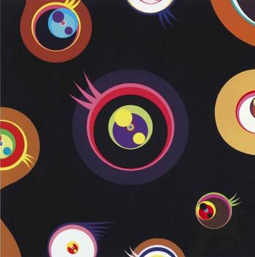 Takashi Murakami-Jellyfish Eyes (Black I)-2004