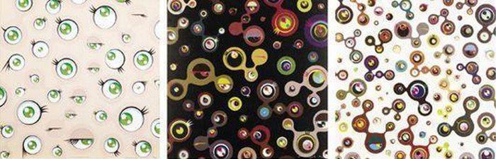 Takashi Murakami-Jellyfish Eyes, Jellyfish Eyes Black 4, Jellyfish Eyes White 5-2001