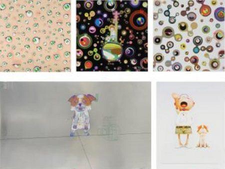 Takashi Murakami-Jellyfish Eyes, Jellyfish Eyes, Jellyfish Eyes - White 4, Playful and carefree leisure meander on Puppy Island response to Leonardo da Vinci, Pom and Me-2013