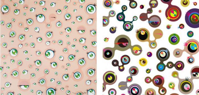 Takashi Murakami-Jellyfish Eyes, Jellyfish Eyes White 4-2011