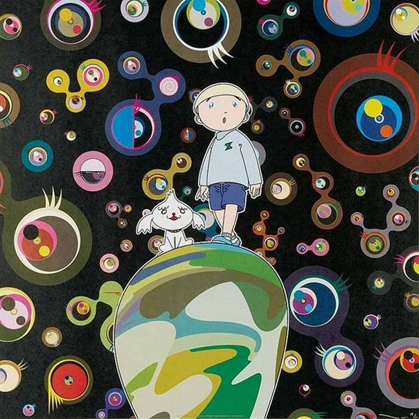 Takashi Murakami-Jellyfish Eyes - MAX & Shimon in the Strange Forest-2004