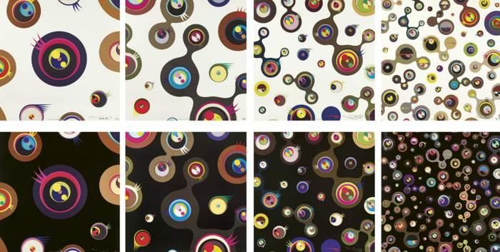 Takashi Murakami-Jellyfish Eyes (White 1, White 2, White 3, White 4, Black , Black 2, Black 3, Black 5)-2006