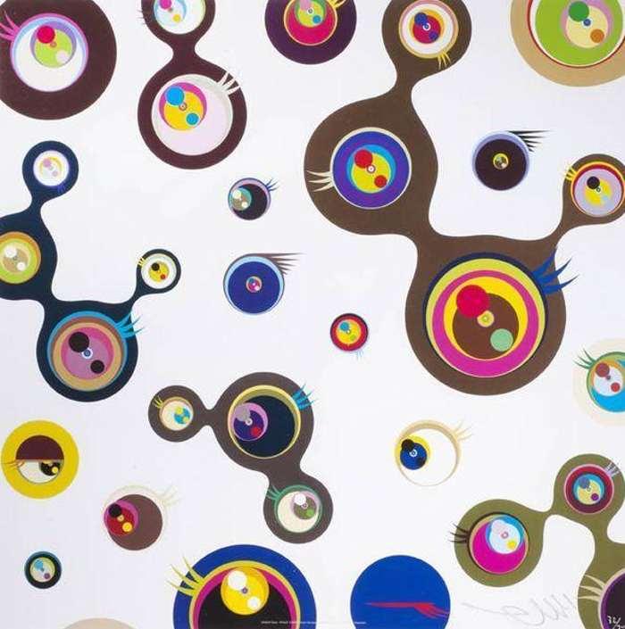 Takashi Murakami-Jellyfish Eyes - White 3-2006