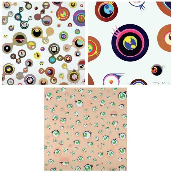 Takashi Murakami-Jellyfish Eyes-White 4, Jellyfish Eyes-White 1, Jellyfish Eyes-2011