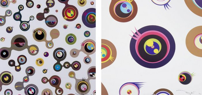 Takashi Murakami-Jellyfish Eyes-White 1, Jellyfish Eyes-White 4-2006