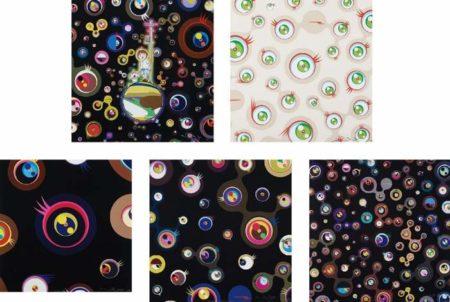 Takashi Murakami-Jellyfsh Eyes, Jellyfsh Eyes Cream, Jellyfsh Eyes - Black 1, Jellyfsh Eyes - Black 3, Jellyfsh Eyes - Black 5-2013