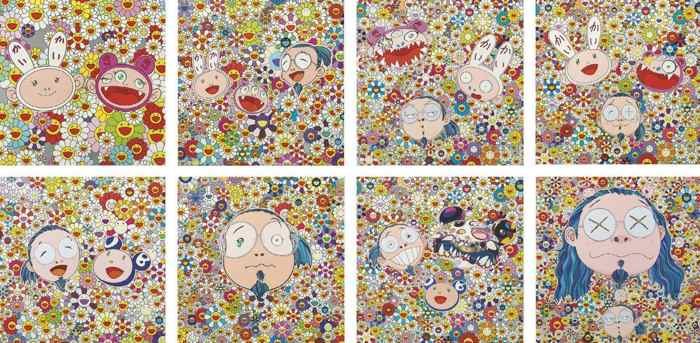 Takashi Murakami-Kaikai Kiki (News No2, And Me, The Shocking Truth Revealed, For Better Or Worse..) Me And Mr. DOB, Murakami-kun, Me And Double-DOB, Self-portrait Of The Distressed Artist-2010