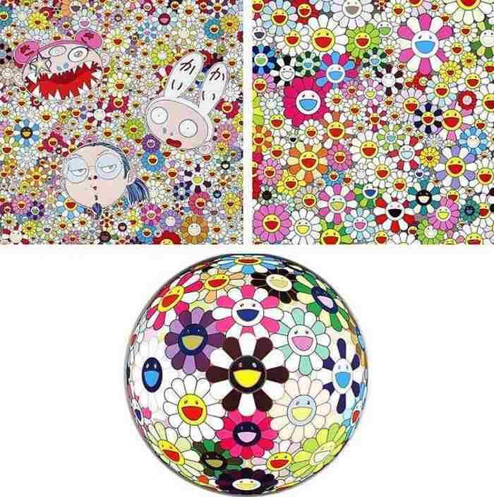Takashi Murakami-Kaikai Kiki and Me-The Shocking Truth Revealed, Maiden in the Yellow Straw Hat, Flowerball Brown-2010