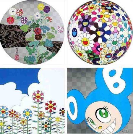 Takashi Murakami-Kansei, Flowerball (3D) from the Realm of the Dead, Flower 2, And Then (Aqua Blue)-2011