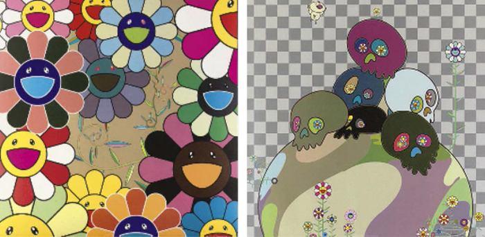 Takashi Murakami-Killer Pink, Skulls Rock-2004