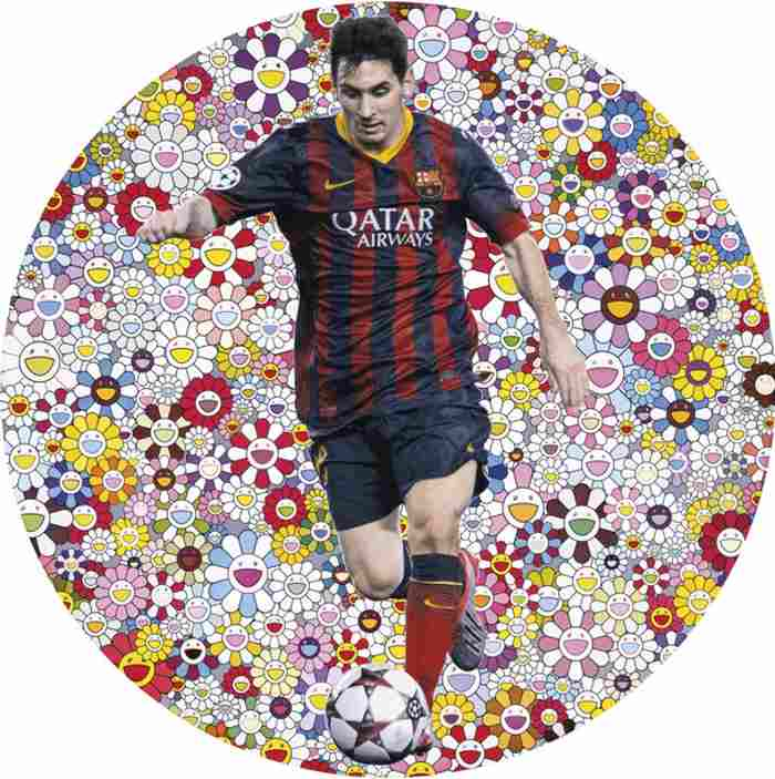 Takashi Murakami-Lionel Messi and a Universe of Flowers-2014