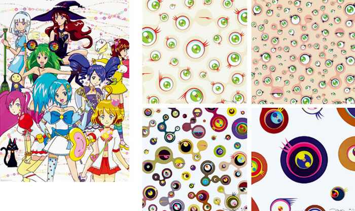 Takashi Murakami-Magical Princess, Jellyfish Eyes Cream, Jellyfish Eyes White-4, Jellyfish Eyes White-1, Jellyfish Eyes-2011