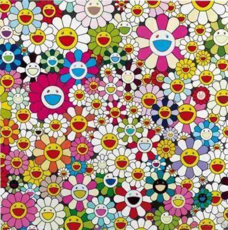 Takashi Murakami-Maiden In The Yellow Straw Hat-2010