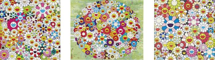 Takashi Murakami-Maiden in the Yellow Straw Hat, Open your Hands Wide, Such Cute Flowers-2010