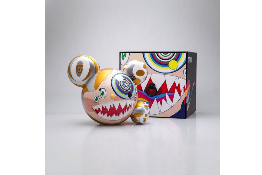 Takashi Murakami - Mr DOB Figure By BAIT x SWITCH Collectibles - Gold edition (Signed), 2016, vinyl toy