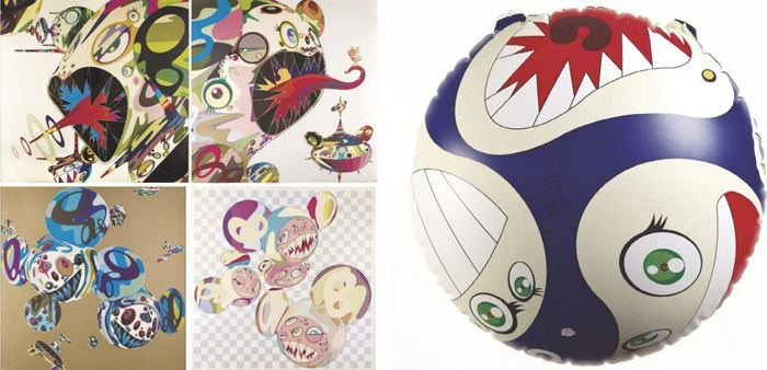 Takashi Murakami-Mr. Dob (Red Balloon), Homage to Francis Bacon (Study of Isabel Rawsthorne), Homage to Francis Bacon (Study of George Dyer), Reversal D.N.A., PARA- KITI DOB-2003