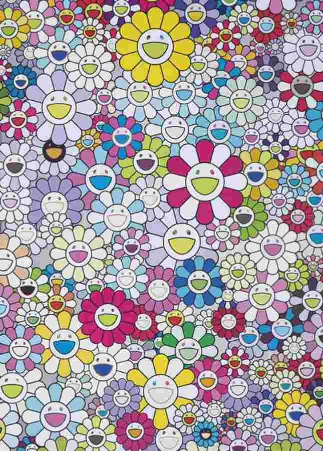 Takashi Murakami-Multiclor Flowers-2012
