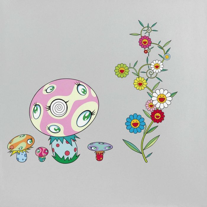 Takashi Murakami-Mushroom Painting #1-2000