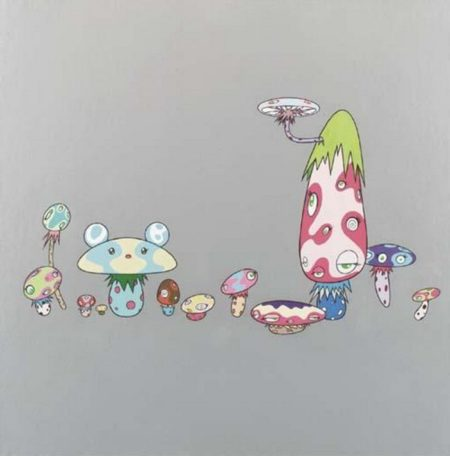 Takashi Murakami-Mushroom Painting #2-2000