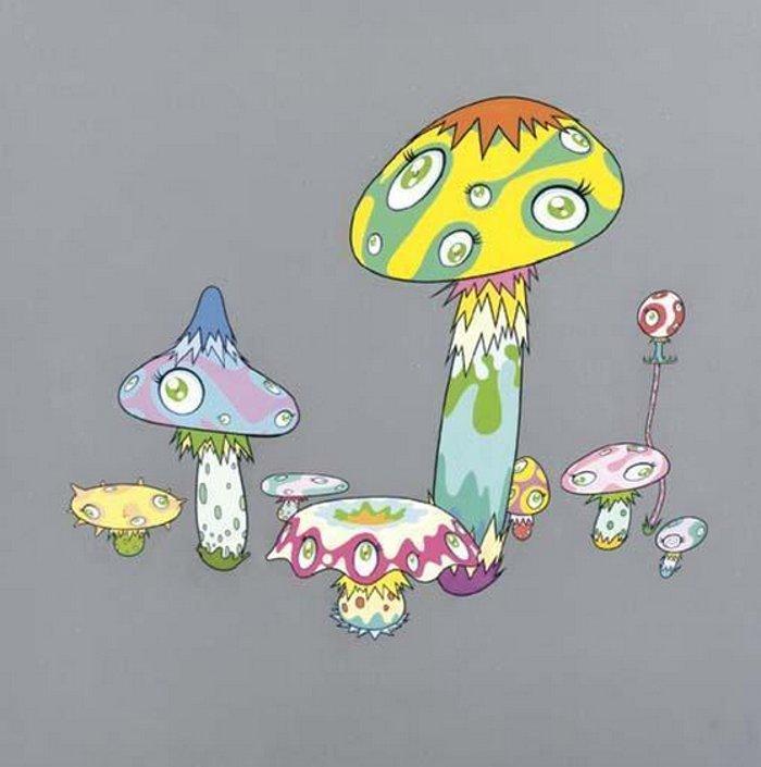 Takashi Murakami-Mushroom Painting #5-2000