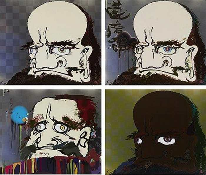 Takashi Murakami-My Arms and Legs Rot Off (4 works)-2008
