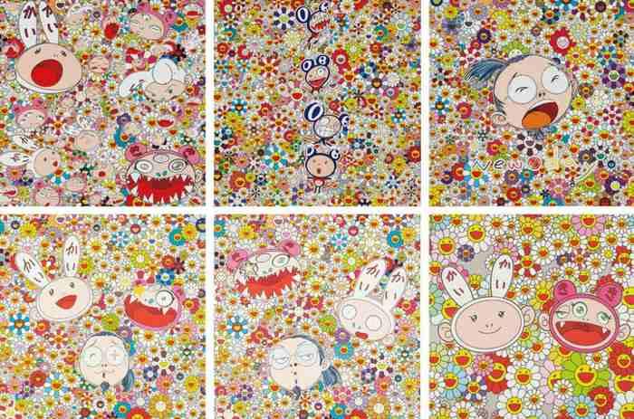 Takashi Murakami-New Day-Lots of Kaikai and Kiki, New Day-DOB Totem Pole, Self-Portrait, Kaikai Kiki And Me-The Shocking Truth, Kaikai Kiki And Me - For Better Or Worse, Kaikai Kiki News No.2-2011