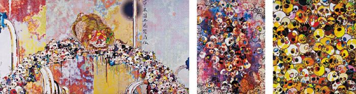 Takashi Murakami-Of Chinese Lions, Peonies, Skulls and Fountains, MGST, I've Left My Love Far Behind Their Smell, Every Momento-2012