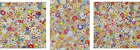 Takashi Murakami-Open Your Hands Wide Embrace Happiness!, Field of Smiling Flowers, Poporoke Forest-2011