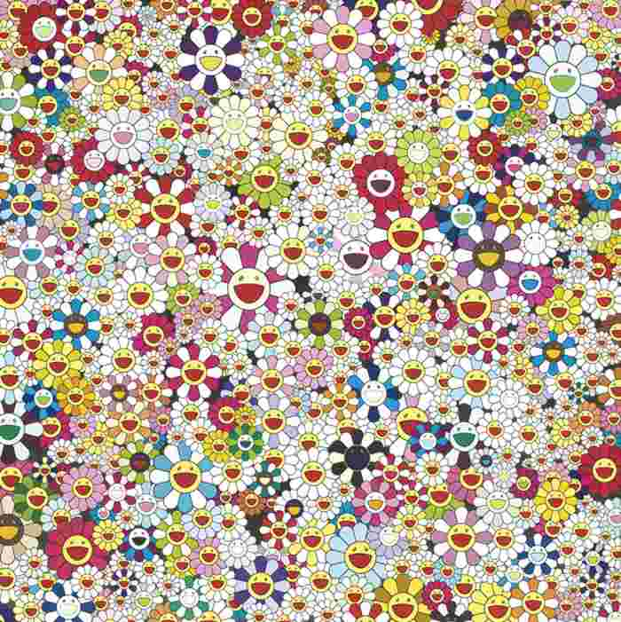 Takashi Murakami-Open Your Hands Wide, Embrace Happiness!-2010
