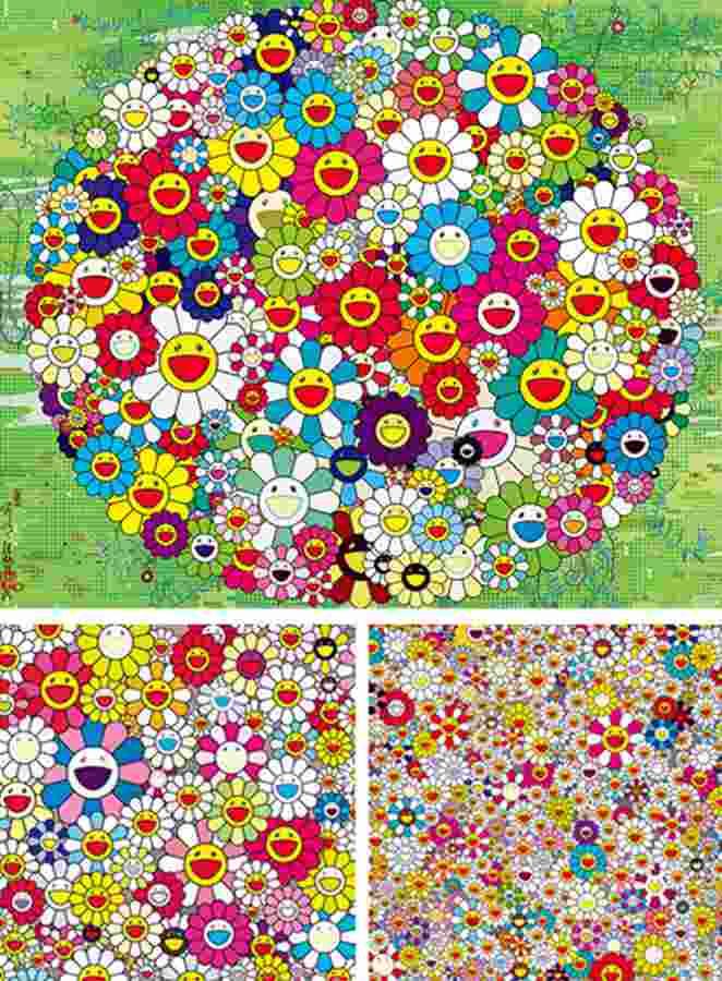 Takashi Murakami-Open Your Hands Wide, Kansei-Korin, Korin-Gold-2010