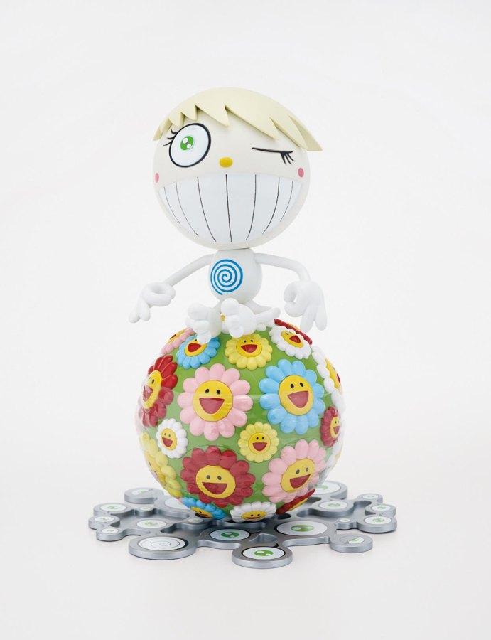 Takashi Murakami-Mr. Wink, Cosmos Ball (Oval, Peter Norton Christmas Project 2000)-2000