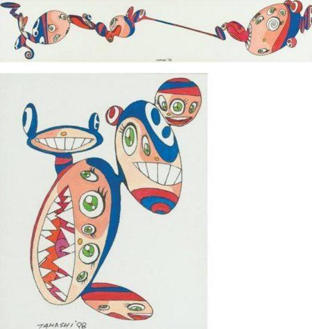 Takashi Murakami-Pair of Drawings-1998