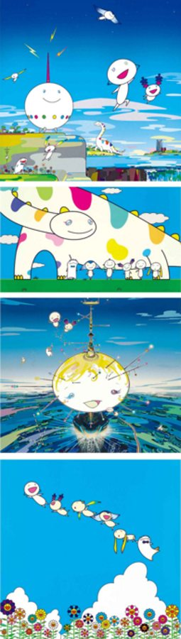 Takashi Murakami-Planet 66, Planet 66-Summer Vacation, Mamu Came from the Sky, Yoshiko and the Creatures from Planet 66-2007