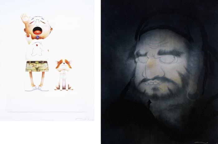 Takashi Murakami-Pom & Me, Mirroring Your Image-Take A Bow, Hakuin-2010