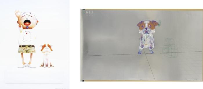 Takashi Murakami-Pom and Me, Playful And Carefree A Leisurely Meander On Puppy Island My Response To Leonardo Da Vinci-2010