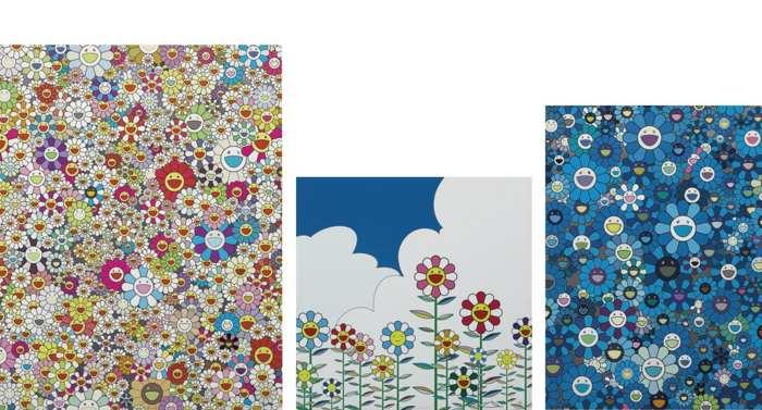 Takashi Murakami-Poporoke Forest, Flower 2, An Homage to Ikb 1957-2011