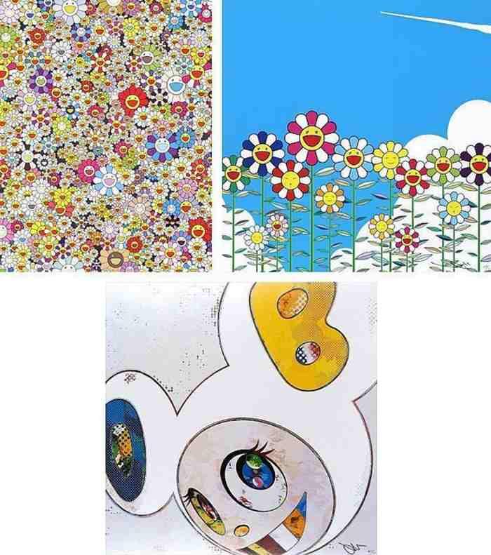 Takashi Murakami-Poporoke Forest, Flower, And Then x 6 (White-The Superflat Method)-2013
