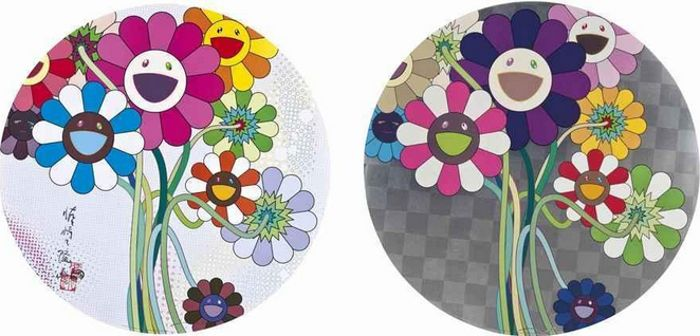 Takashi Murakami-Purple Flowers in a Bouquet, Even the Digital Realm Has Flowers to Offer-2009