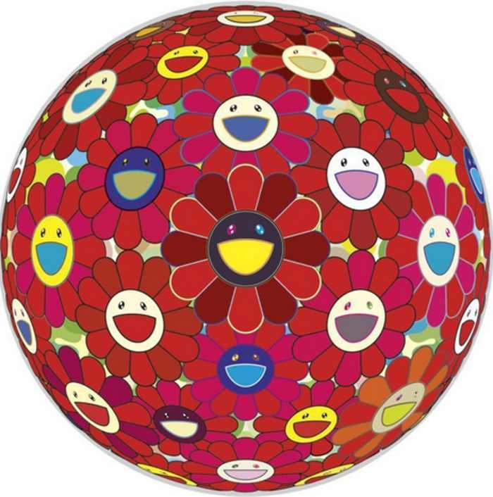 Takashi Murakami-Red Flower Ball (3D)-2007