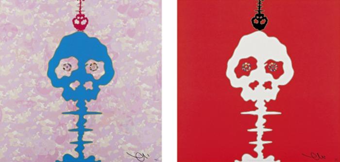 Takashi Murakami-Red Time, Bokan-Camoufage Pink-2009
