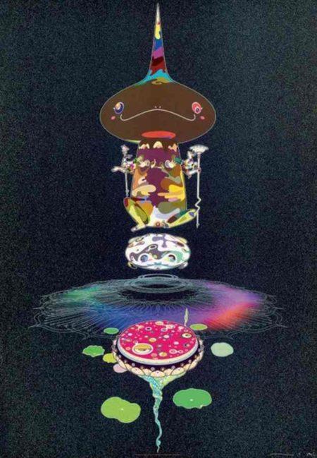 Takashi Murakami-Reversed Double Helix-Black Head Brown Body-2009