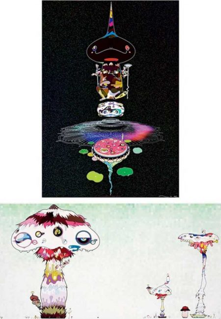 Takashi Murakami-Reversed Double Helix-Black Head Brown Body, Hypha will cover the world little by little-2007